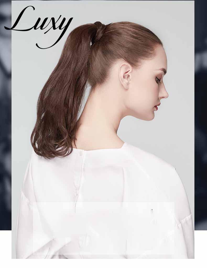 tóc cột đuôi ngựa bằng tóc thật