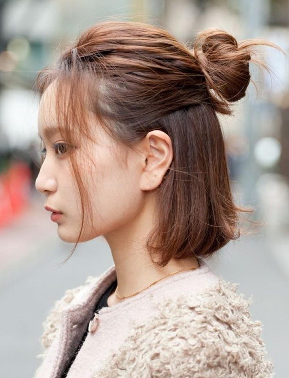 Những kiểu tóc buộc nửa đầu đẹp không thử thì phí - Tóc giả LUXY